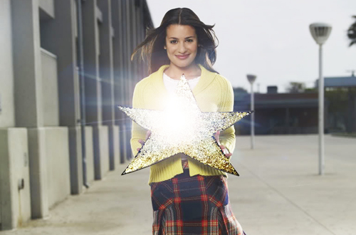 rachel berry glee gold star