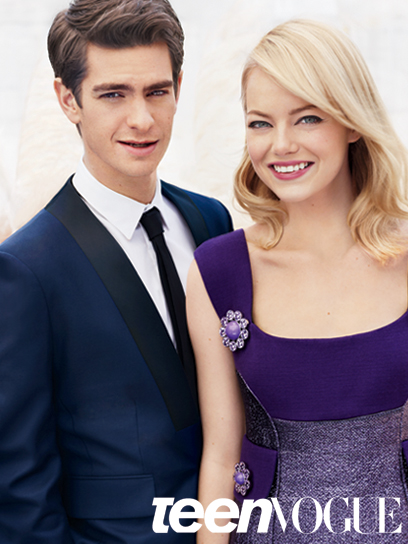 2e6ab83 Andrew Garfield & Emma Stone em editorial fofo da Teen Vogue