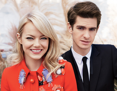andrew emma teen vogue1 Andrew Garfield & Emma Stone em editorial fofo da Teen Vogue