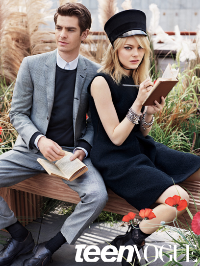 egs6jo Andrew Garfield & Emma Stone em editorial fofo da Teen Vogue
